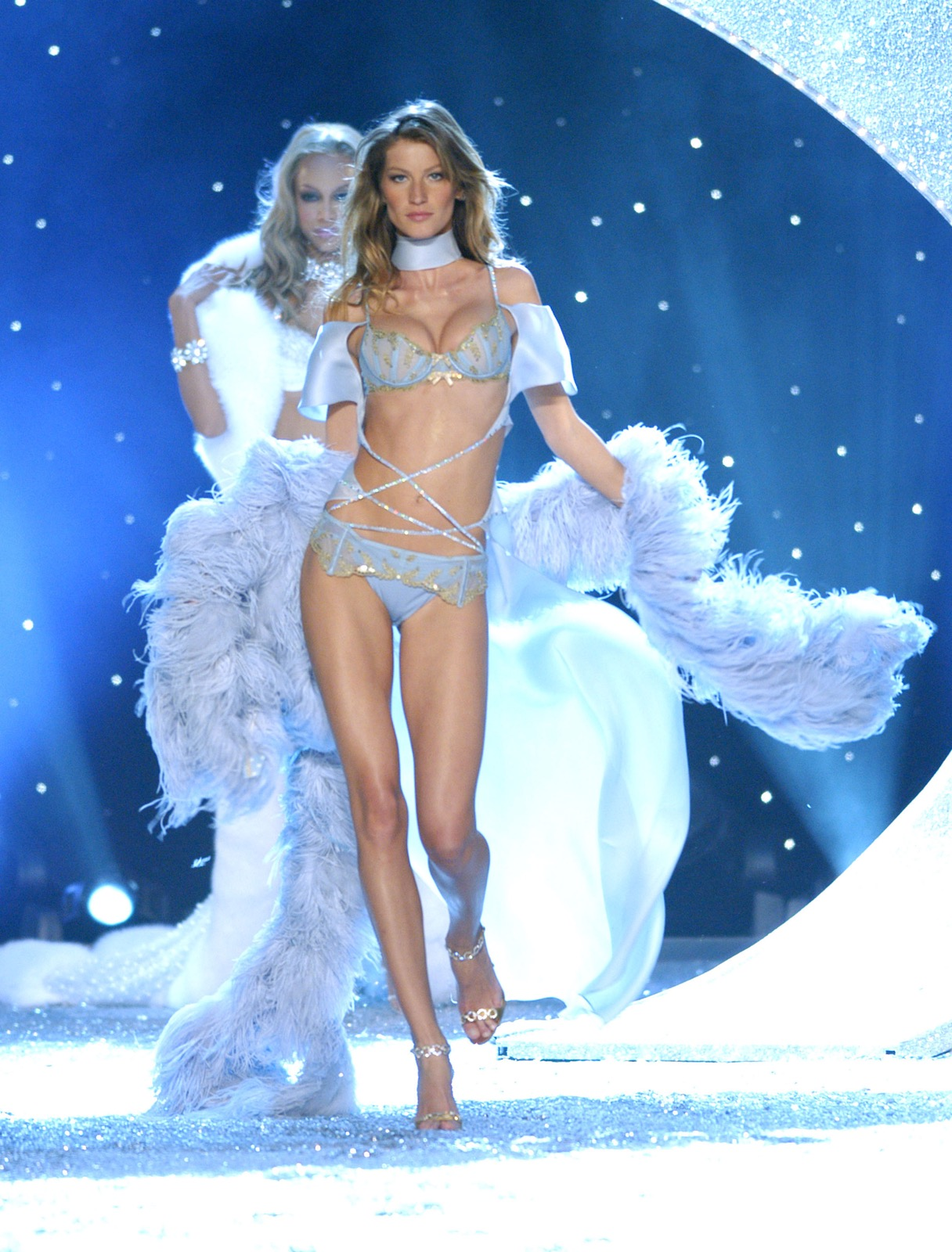 Gisele Bundchen during the 9th Annual Victoria's Secret Fashion Show in New York, November 13, 2003. Kevin Mazur/WireImage/Getty Images