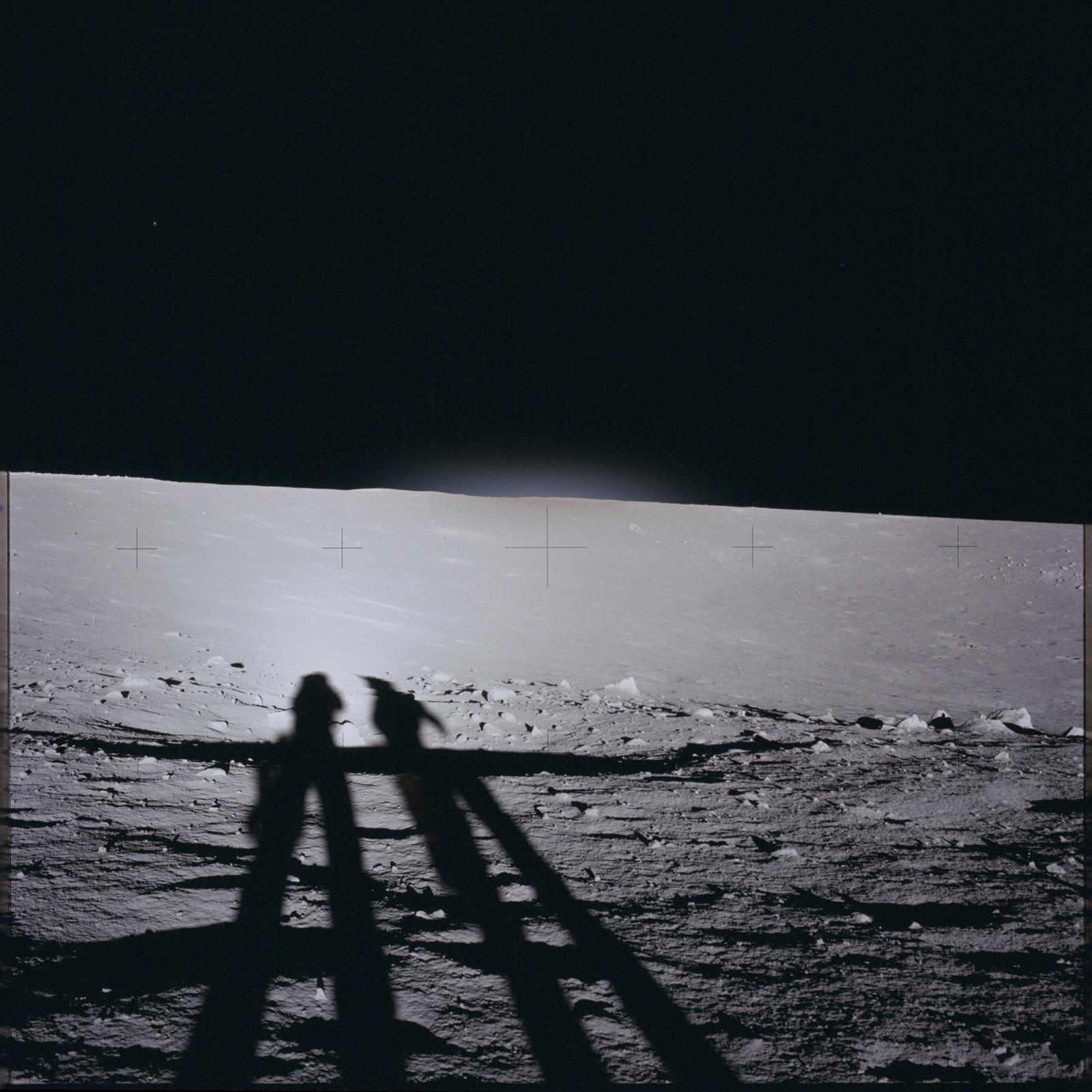 Apollo 12 Hasselblad image from film magazine 46/Y - EVA-1. NASA Photo