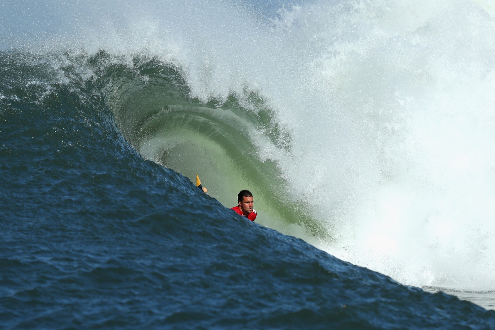 Shaun Pyne of New South Wales rides a wave. Cameron Spencer/Getty Images