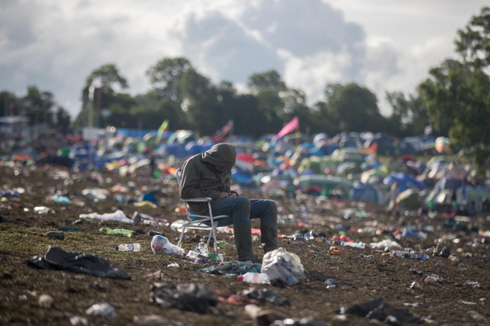 Clean up begins at the Glastonbury Festival 2016 at Worthy Farm, Pilton. Matt Cardy/Getty Images