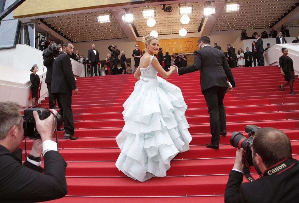 Blake Lively heading to the screening of the film Ma Loute (Slack Bay) at the 69th international film festival in Cannes. AP Photo/Thibault Camus