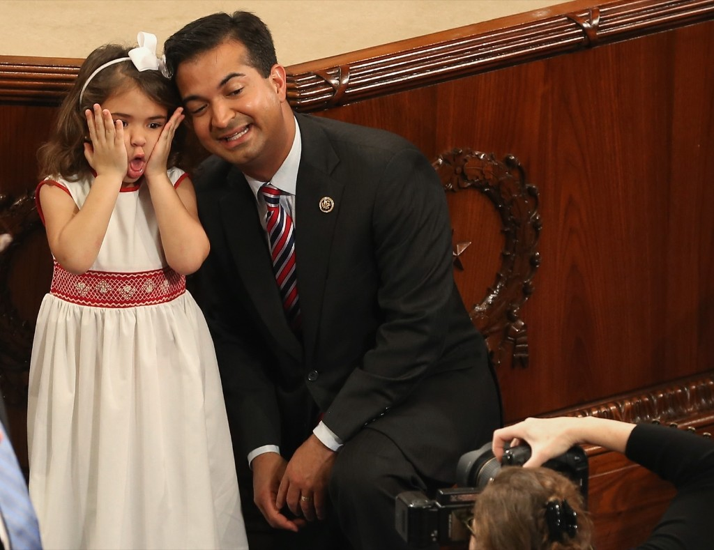 Rep. Carlos Curbelo with his daughter Sylvie. Mark Wilson/Getty Images