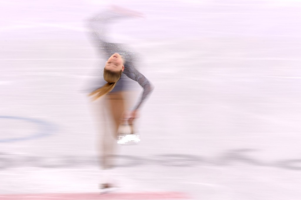 Maria Sotskova of Olympic Athletes from Russia during the women's free skate. Harry How/Getty Images
