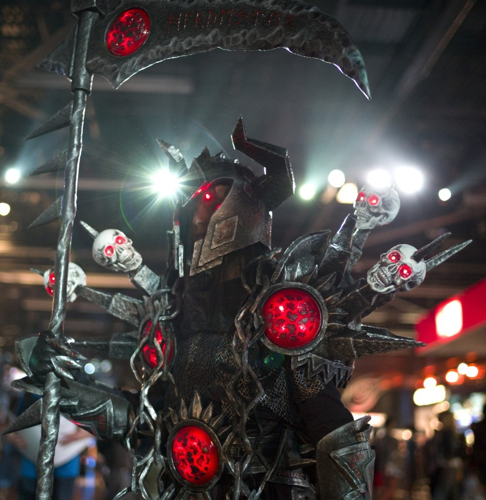 A man dressed as a warlock from the World of Warcraft at BlizzCon in Anaheim. AP Photo/Jae C. Hong