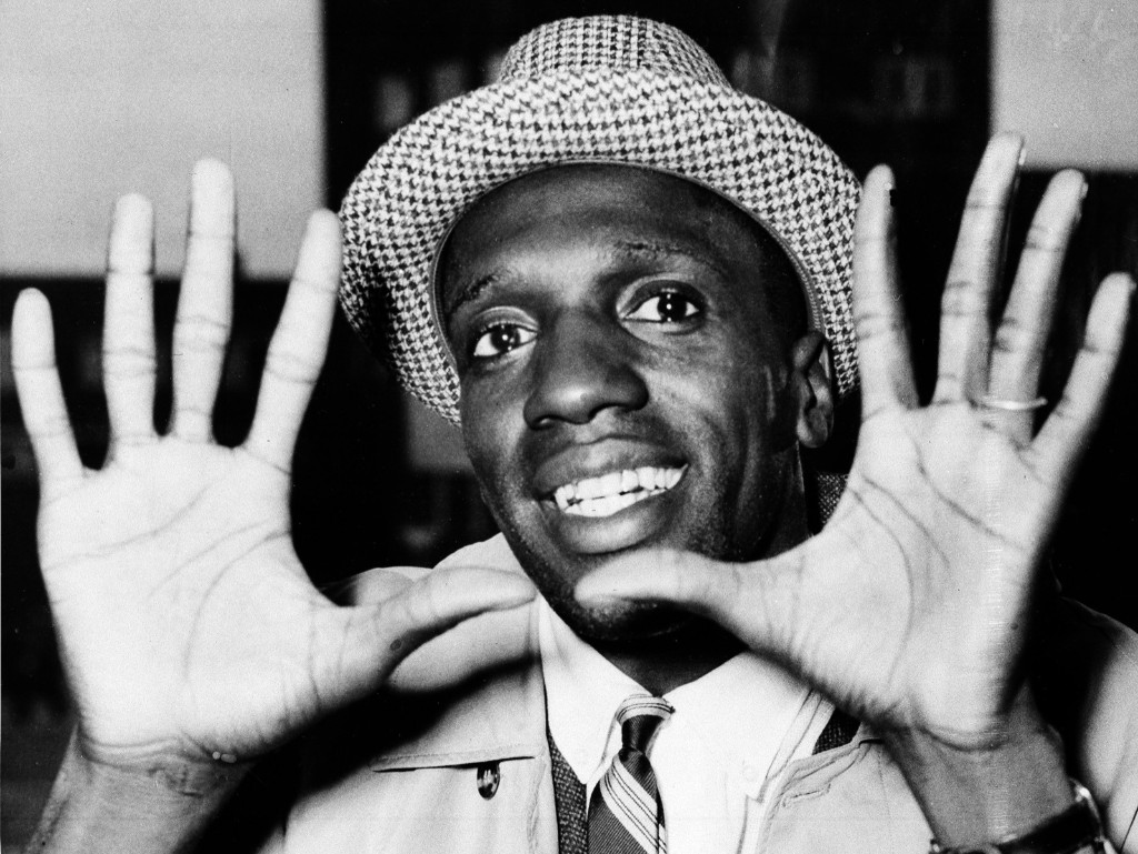 Meadowlark Lemon of the Harlem Globetrotters on arrival in London, May 17, 1959. AP Photo