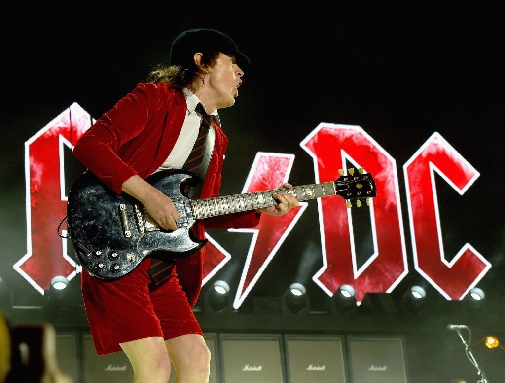 Angus Young of AC/DC during day 1. Kevin Winter/Getty Images for Coachella