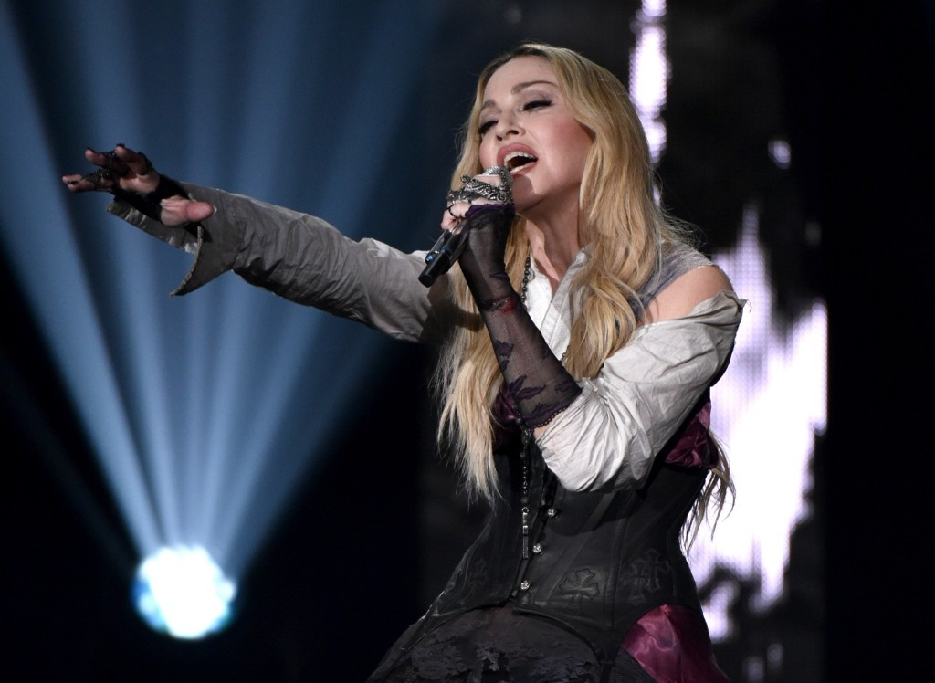 Madonna performs at the iHeartRadio Music Awards, Sunday, in Los Angeles. John Shearer/Invision for iHeartRadio/AP Images