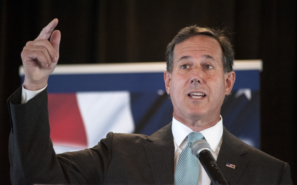 Republican presidential candidate Rick Santorum during the Eagle Council XLIV in St. Louis. AP Photo/Sid Hastings