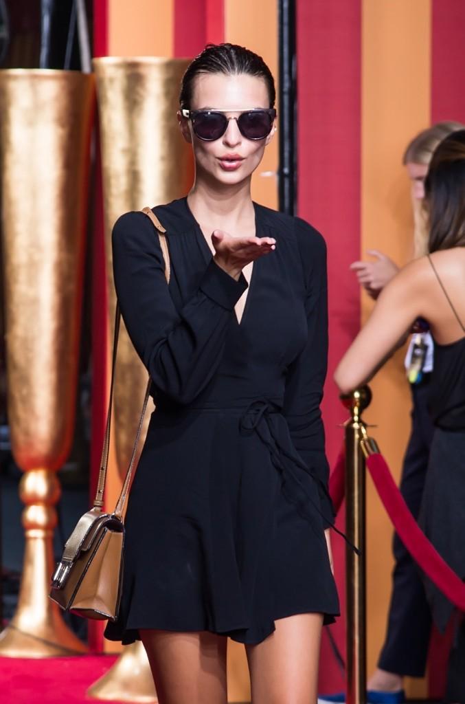 Emily Ratajkowski at the Marc Jacobs fashion show. Gilbert Carrasquillo/FilmMagic