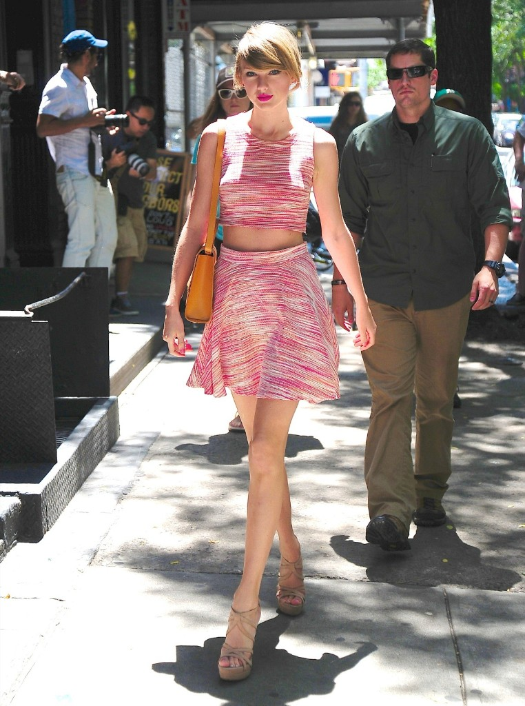 Taylor Swift in New York's East Village. Alo Ceballos/GC Images