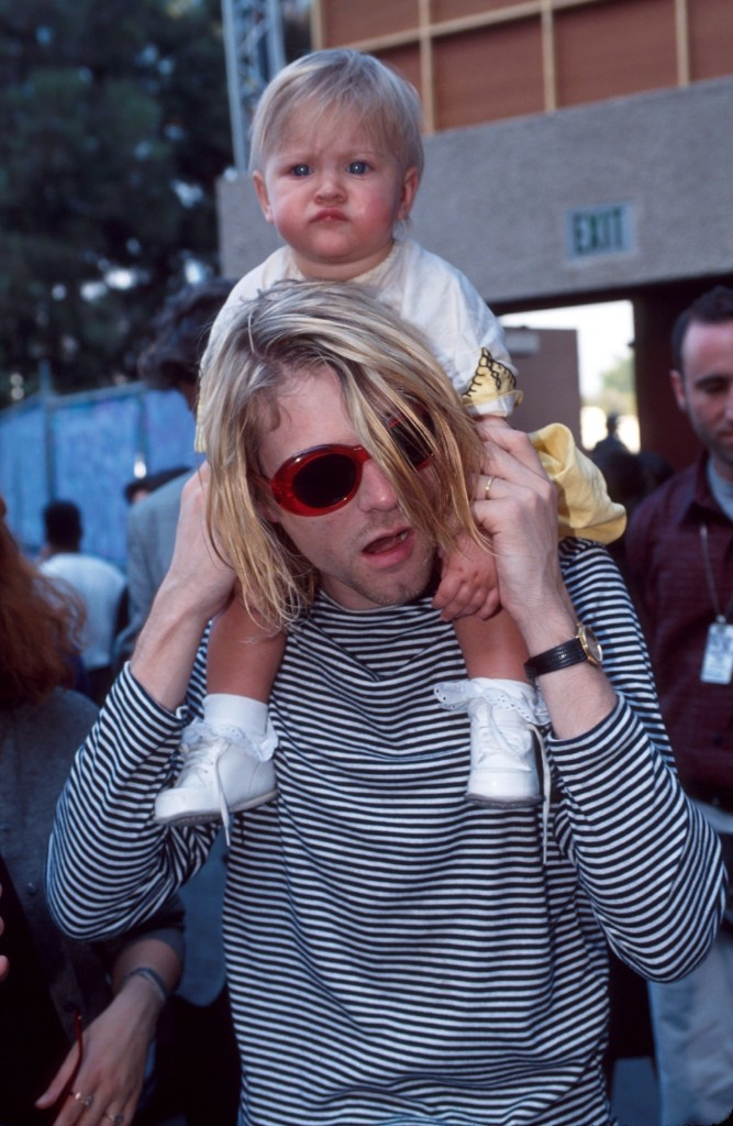 Cobain and daughter Frances Bean at the 10th Annual MTV Video Music Awards, 1993, LA. Kevin Mazur/WireImage