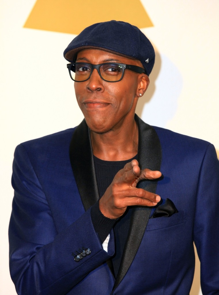 TV host Arsenio Hall during The GRAMMY Nominations Concert Live!! Countdown To Music's Biggest Night at Nokia Theatre L.A. Friday in Los Angeles. Gabriel Olsen/Getty Images