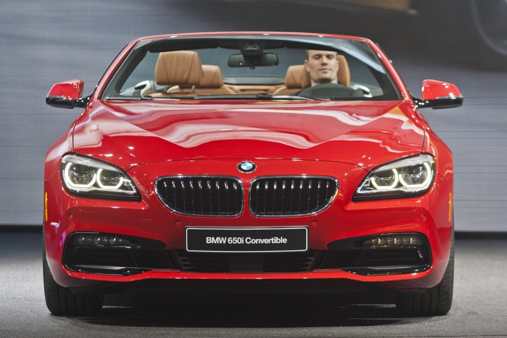 The new BMW 6 series convertible is presented at the North American International Auto Show, in Detroit, Monday. AP Photo/Tony Ding
