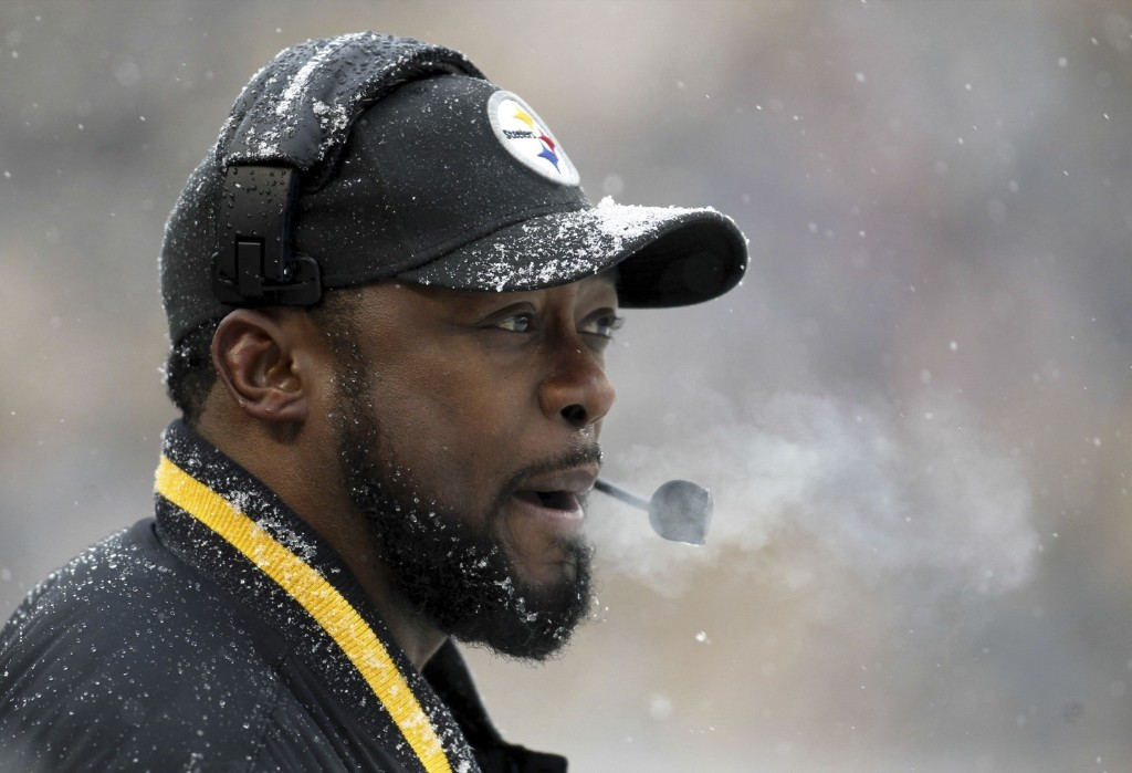 Steelers head coach Mike Tomlin chillin in PIttsburgh. Charles LeClaire-USA TODAY Sports