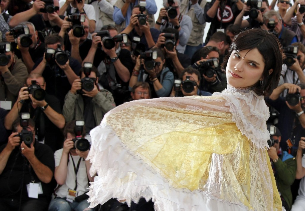 "Cast member Soko during a photocall for the film ""La danseuse"" (The Dancer) at the 69th Cannes Film Festival. REUTERS/Jean-Paul Pelissier"
