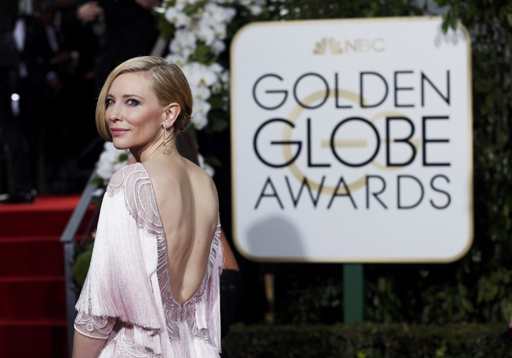 Cate Blanchett arrives at the 73rd Golden Globe Awards. REUTERS/Mario Anzuoni