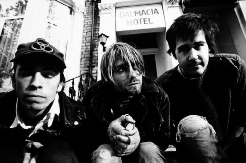 Nirvana in London, Oct. 1990. Martyn Goodacre/Getty Images