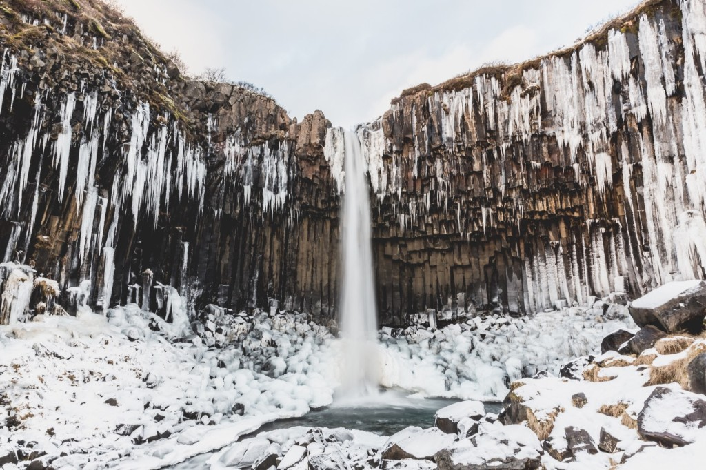Svartifoss (Black Falls) in Reykjavik, Iceland. Sophia Groves/Getty Images
