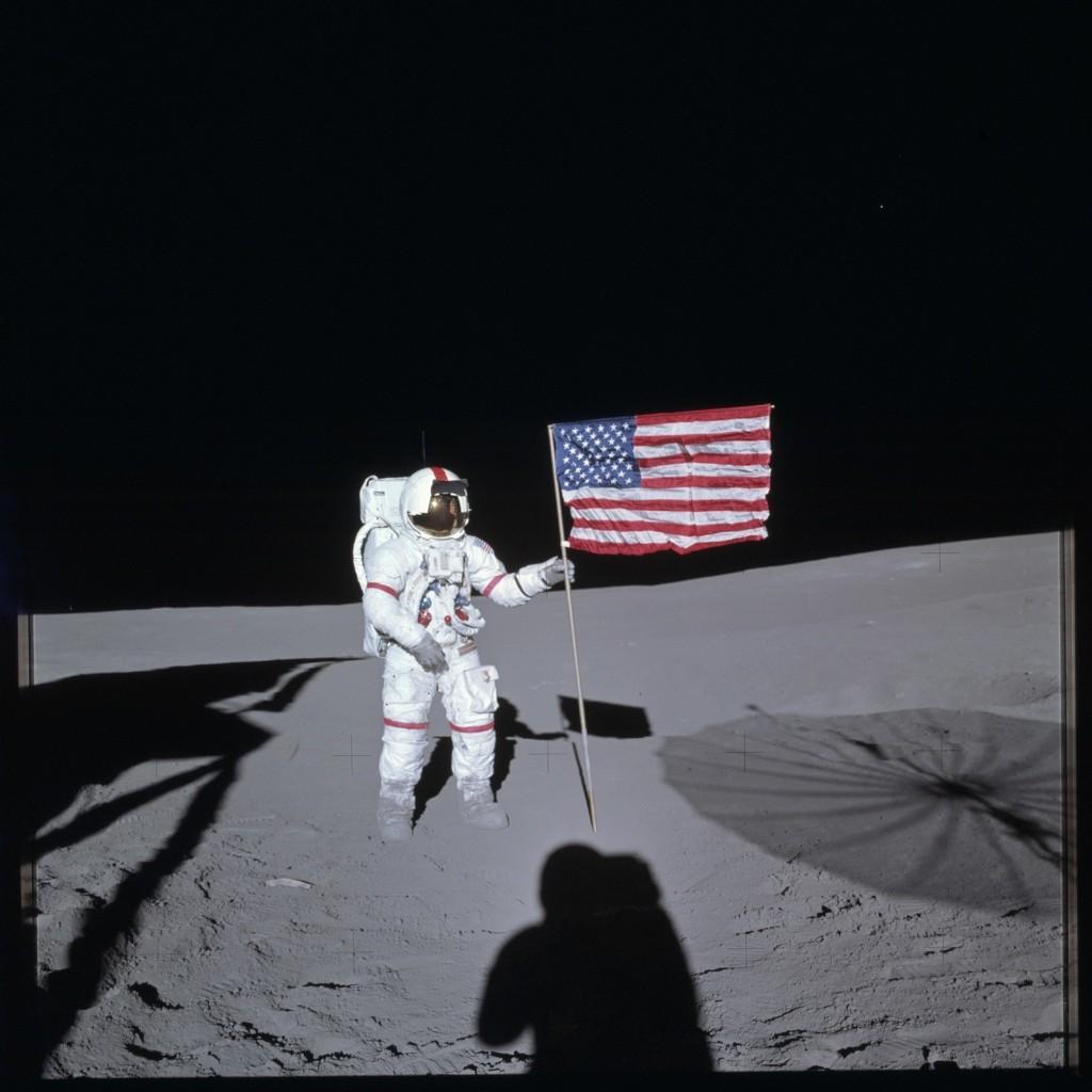 Apollo 14 Hasselblad image from film magazine 66/II - EVA-1. NASA Photo
