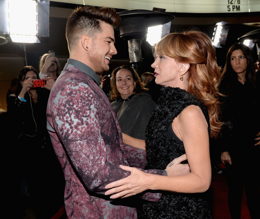 """Kathy Griffin and Adam Lambert attend """"TrevorLIVE LA"""" in Hollywood. Alberto E. Rodriguez/Getty Images for Trevor Project"""