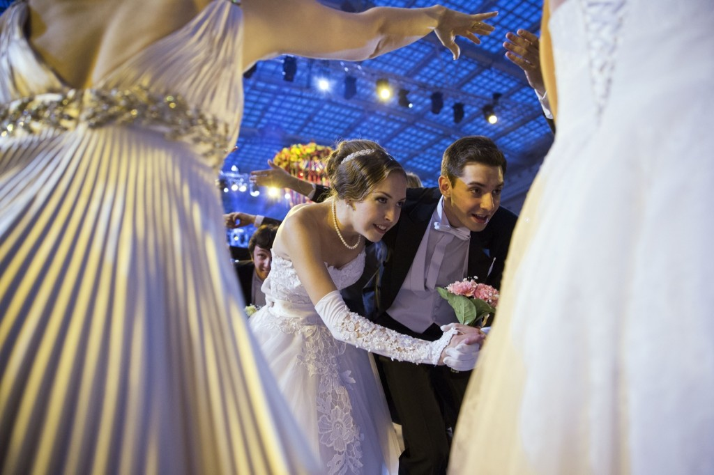 The XII Viennese Ball in Moscow. AP Photo/Pavel Golovkin