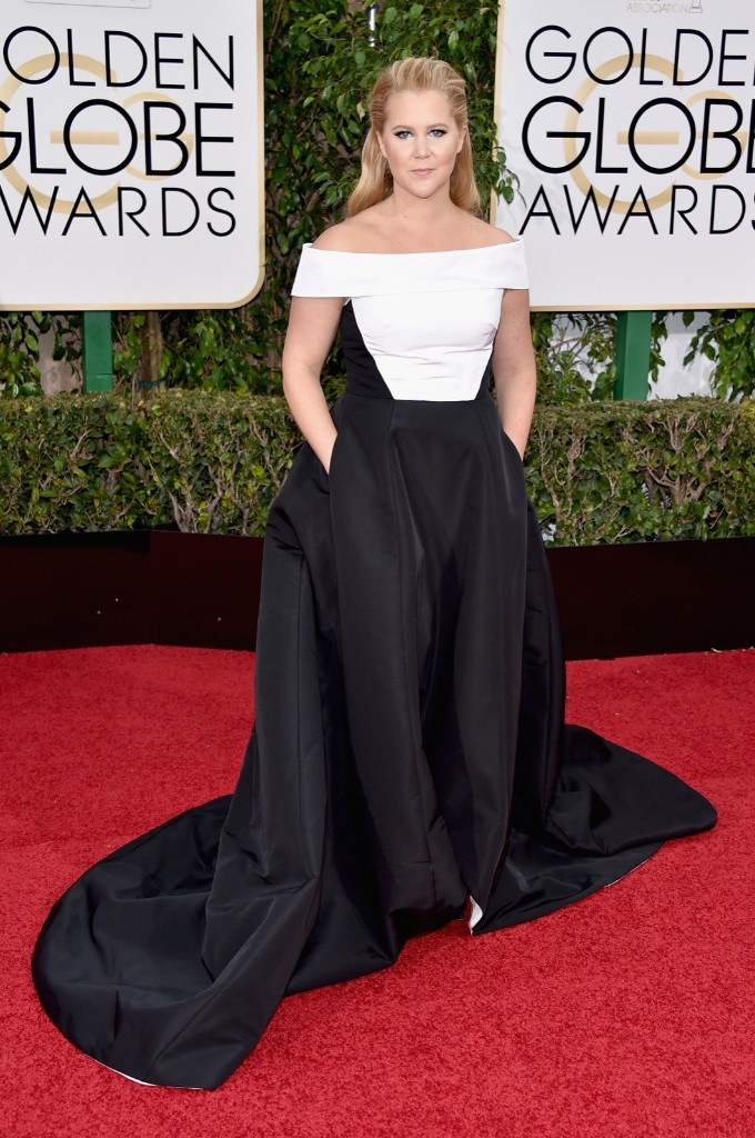 Amy Schumer attends the 73rd Annual Golden Globe Awards. John Shearer/Getty Images