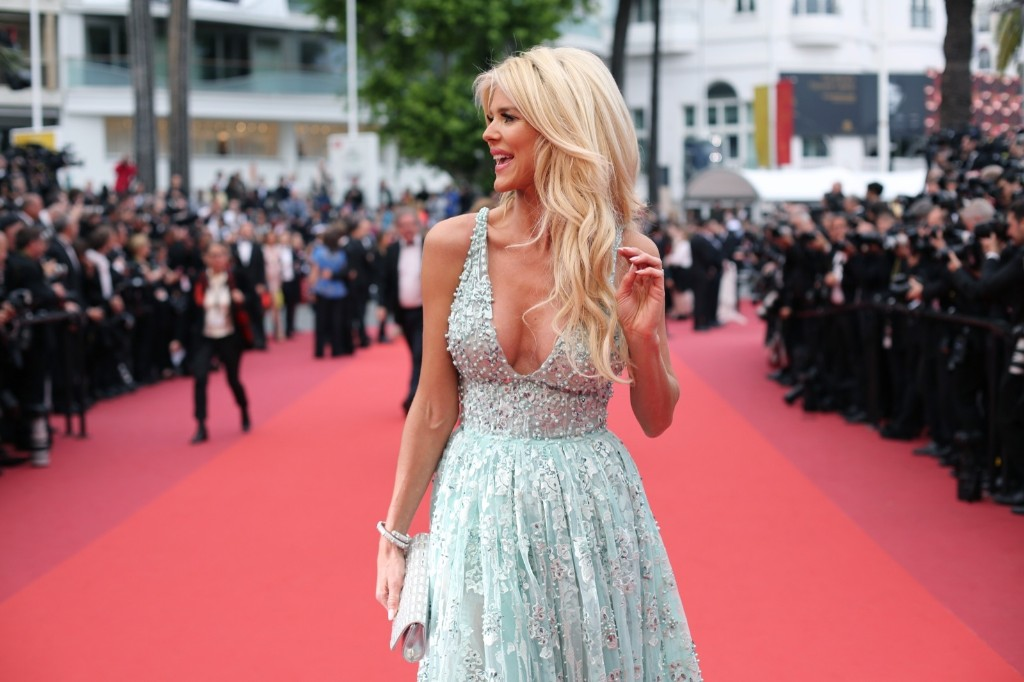 Victoria Silvstedt arrives for the screening of the film Ma Loute (Slack Bay). AP Photo/Thibault Camus