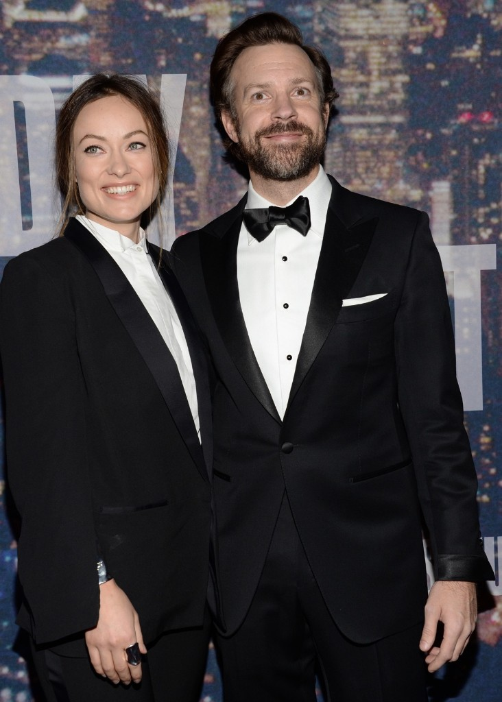 Olivia Wilde and Jason Sudeikis arrive at the Saturday Night Live 40th Anniversary Special, Sunday, in New York. Evan Agostini/Invision/AP
