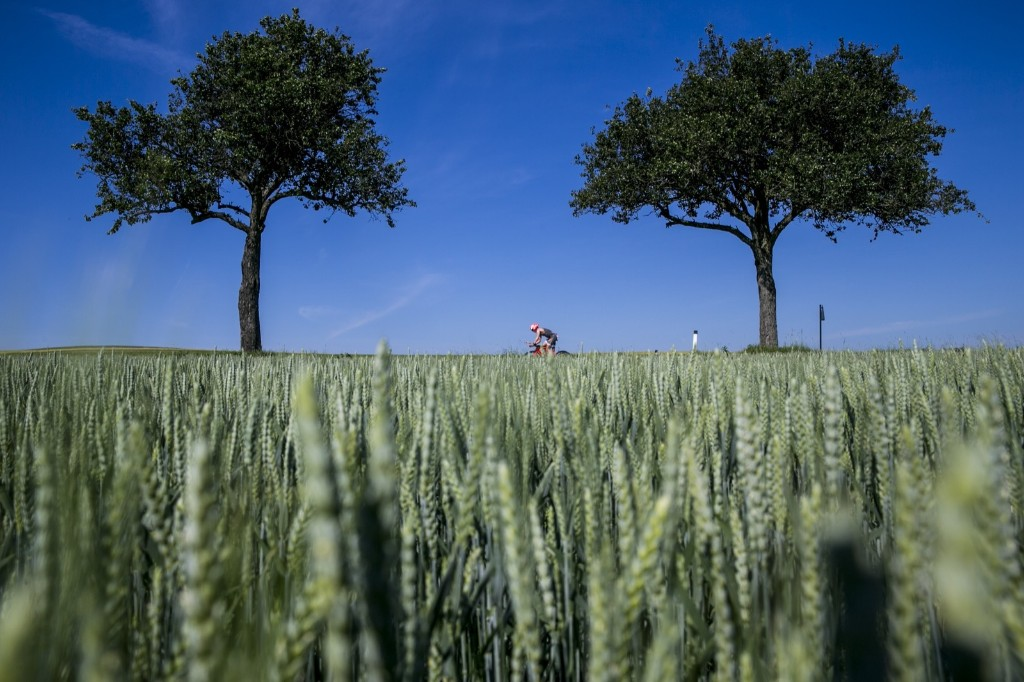 The cycle leg of an Ironman competition in Sankt Polten, Austria. Jan Hetfleisch/Getty Images for IRONMAN