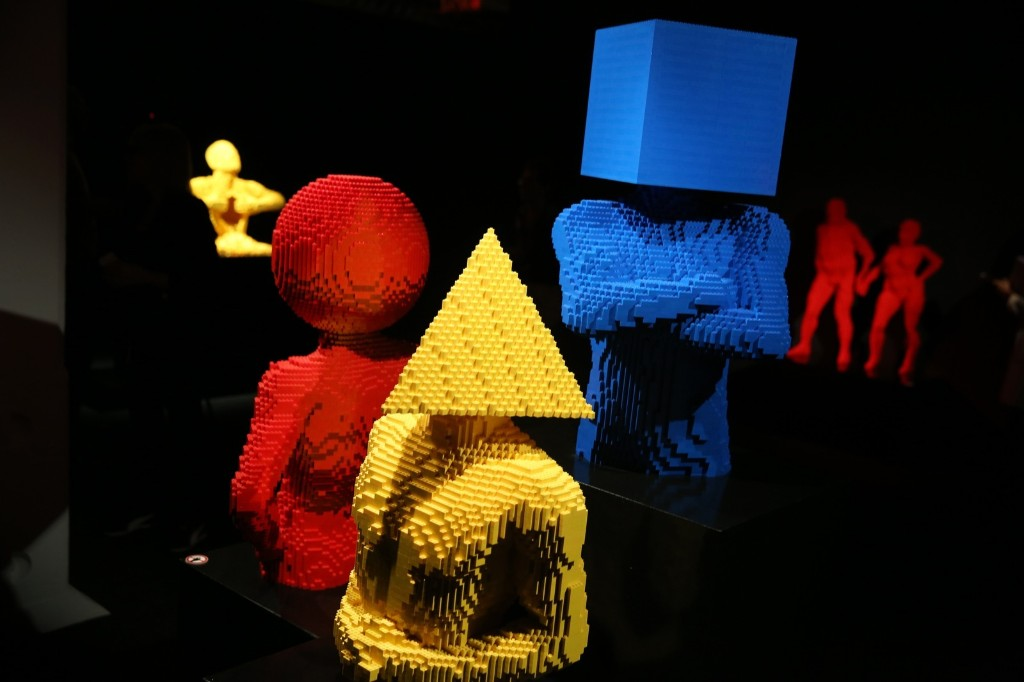 Sculptures made from Lego are shown at the Art of Brick Exhibition. Peter Macdiarmid/Getty Images