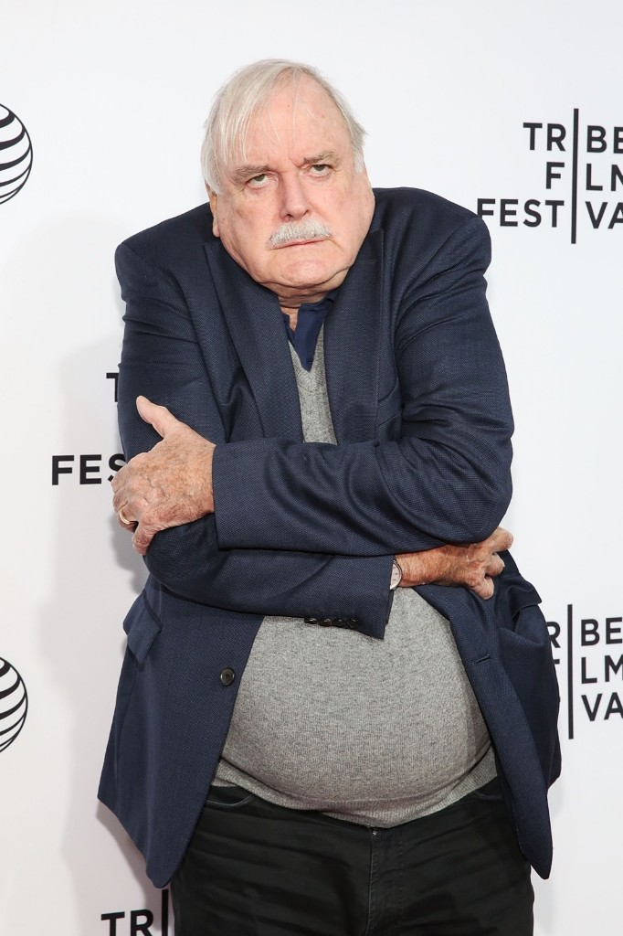 "John Cleese attends the special screening narrative, ""Monty Python And The Holy Grail"" during 2015 Tribeca Film Festival, April 24, in New York. Mireya Acierto/FilmMagic/Getty Images"