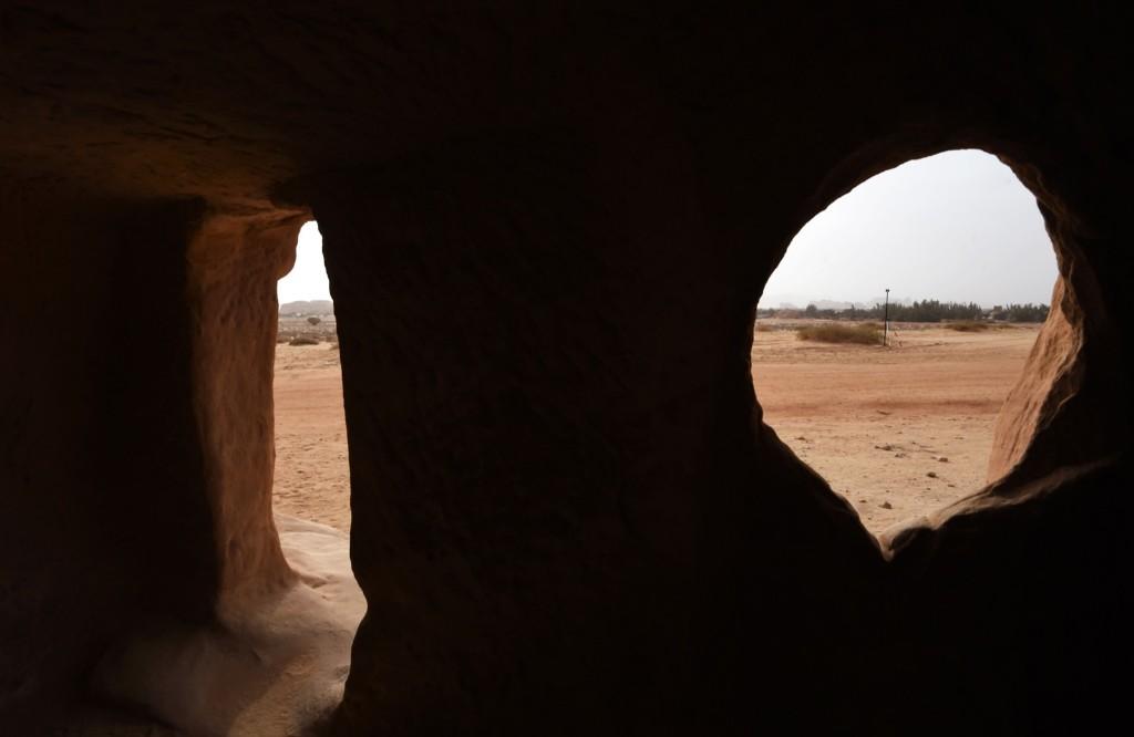 A tomb at Madain Saleh. FAYEZ NURELDINE/AFP/Getty Images