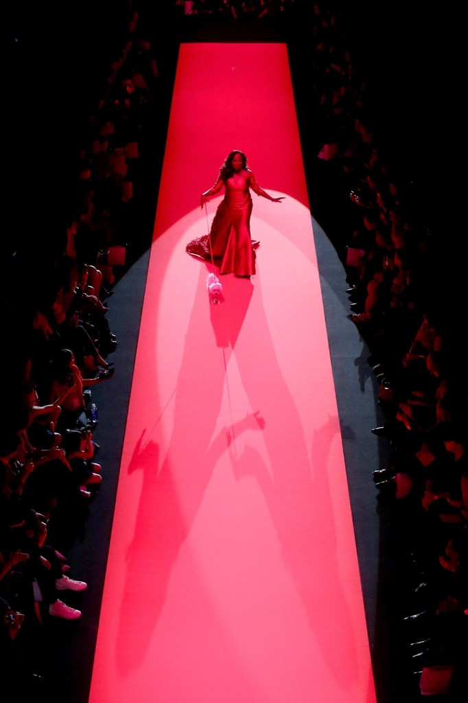 Star Jones walks the runway at the Go Red For Women Red Dress Collection 2015 presented by Macy's during Fall Fashion Week Fall 2015 in New York, Thursday. Michael Loccisano/Getty Images
