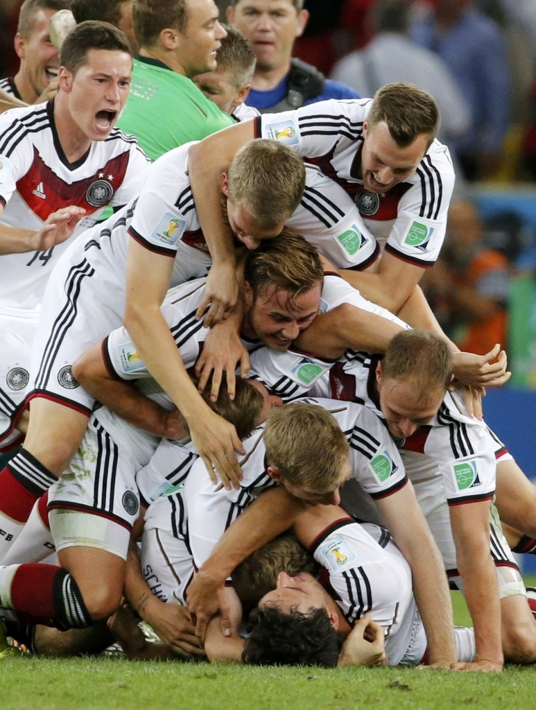 Germany's team after winning their fourth World Cup. REUTERS/Sergio Moraes