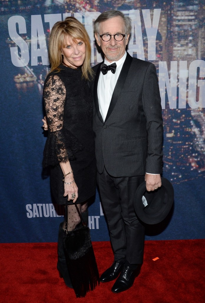 Kate Capshaw and Steven Spielberg arrive at the Saturday Night Live 40th Anniversary Special, Sunday, in New York. Evan Agostini/Invision/AP