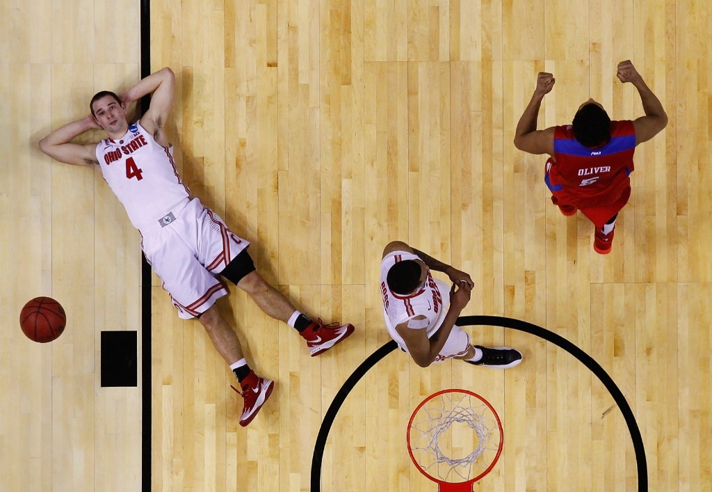 Aaron Craft of Ohio State after his last-second shot bounced off the rim during upset loss to Dayton in round one of March Madness. Jared Wickerham/Getty Images
