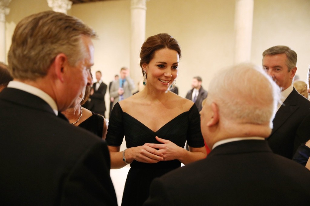 Britain's Catherine, Duchess of Cambridge at the St. Andrews 600th Anniversary Dinner at Metropolitan Museum of Art in New York, Tuesday. REUTERS/Richard Perry-Pool