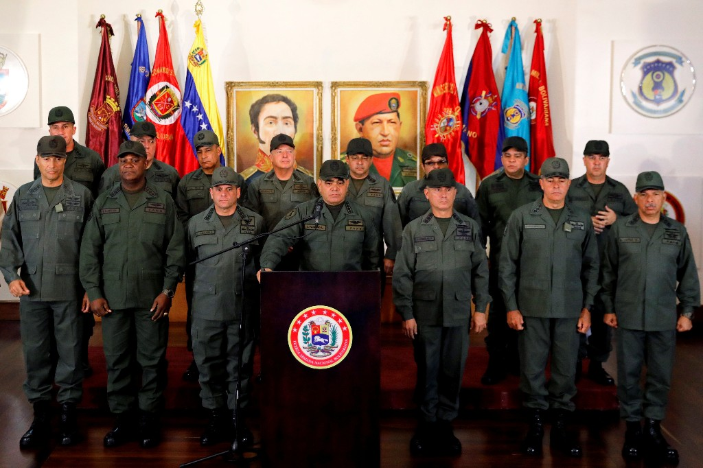 Venezuela's Defense Minister Vladimir Padrino Lopez attends a news conference in Caracas, Venezuela, February 19, 2018. REUTERS/Manaure Quintero