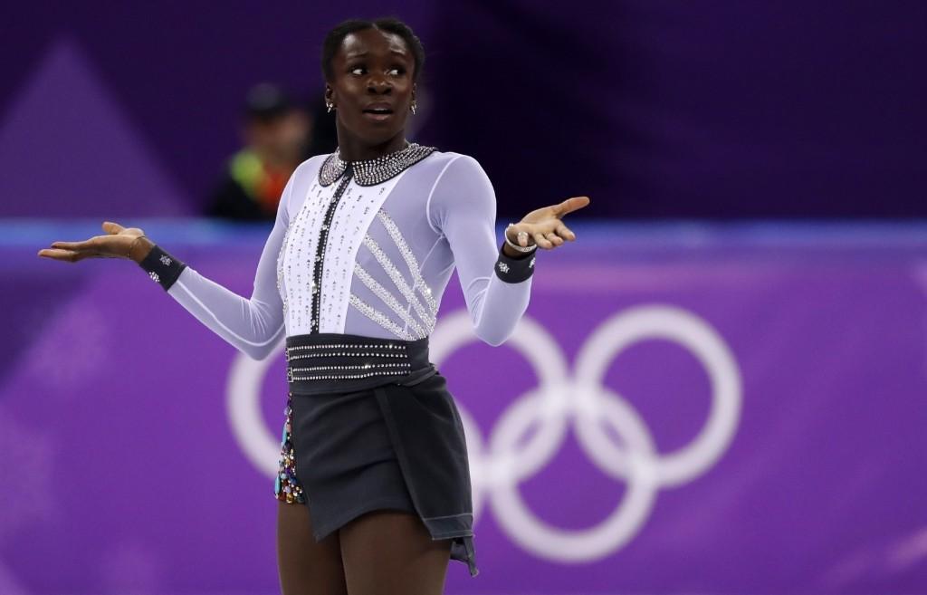 Mae-Berenice Meite of France competes in the women's free skate final. REUTERS/Damir Sagolj