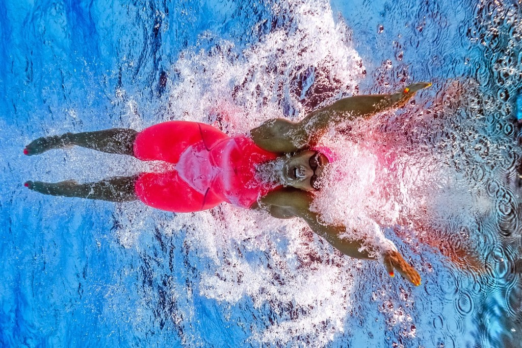 Russia's Yuliya Efimova in the women's 100m breaststroke final. FRANCOIS-XAVIER MARIT/AFP/Getty Images
