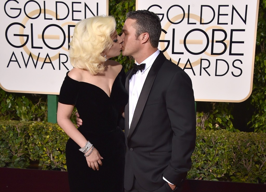 Lady Gaga and Taylor Kinney at the Beverly Hilton Hotel. Jordan Strauss/Invision/AP