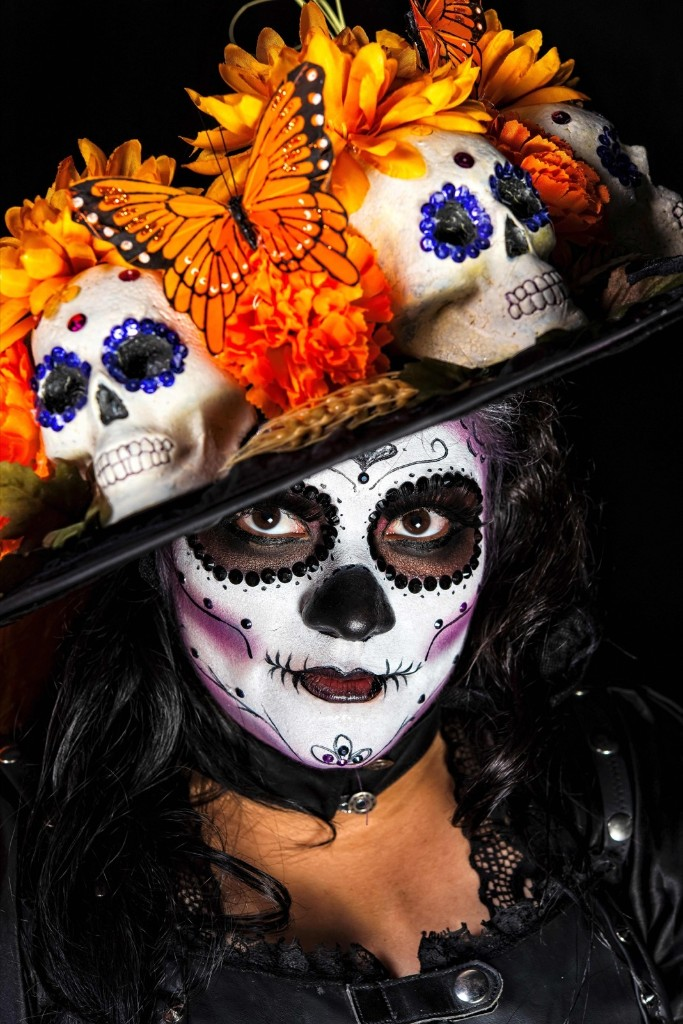 Alejandria Copado as Catrina (Mexican representation of death) before the March of Catrinas organized by the Body Paint group in Mexico City. OMAR TORRES/AFP/Getty Images
