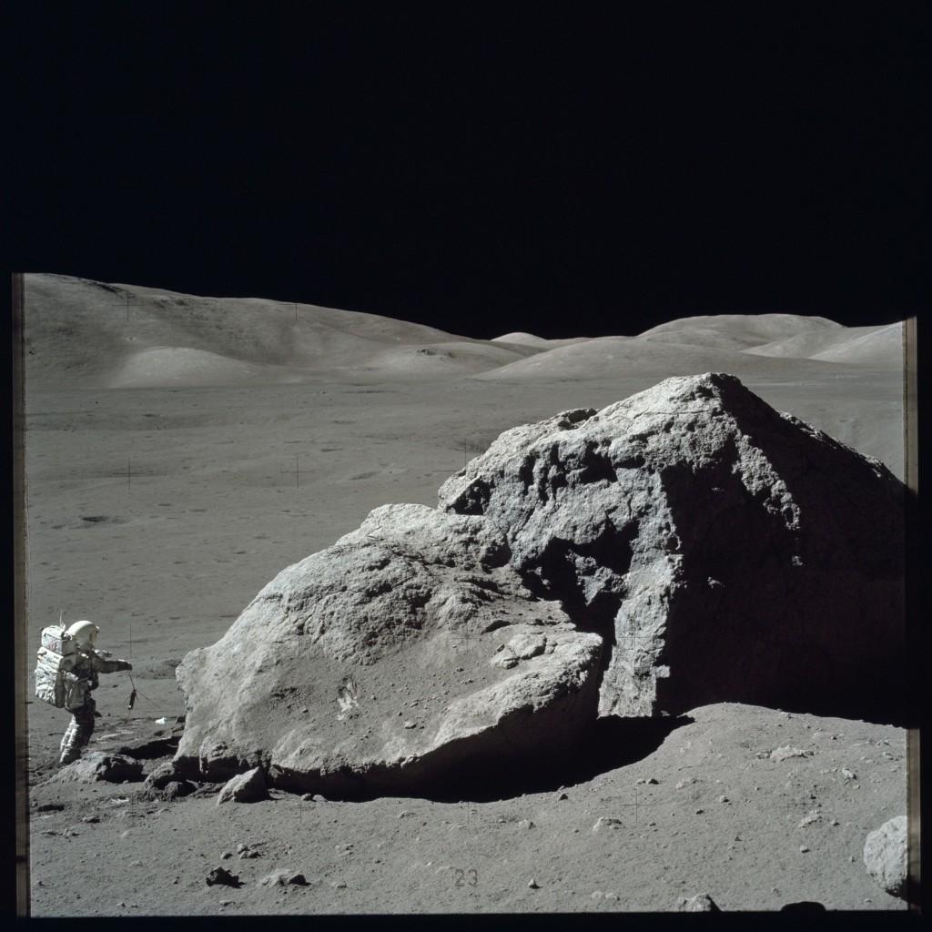 Apollo 17 Hasselblad image from film magazine 140/E - EVA-3. NASA Photo