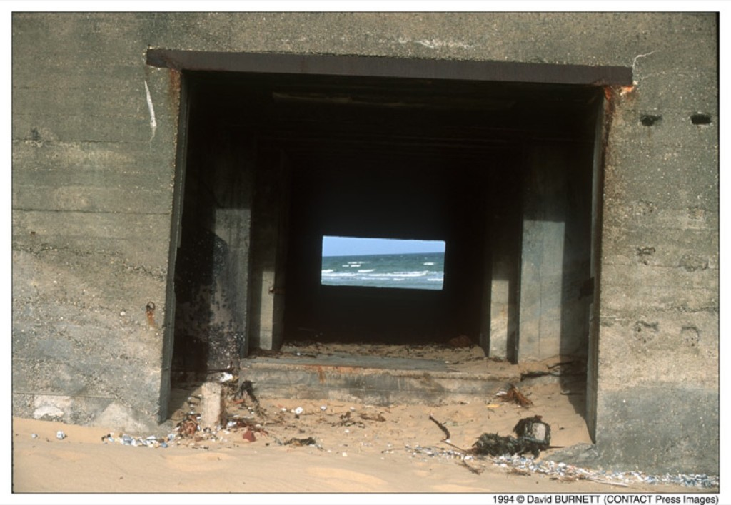 Bunkers remaining from the 'Atlantic Wall', Bleriot Beach, 1994. David Burnett/Contact Press Images