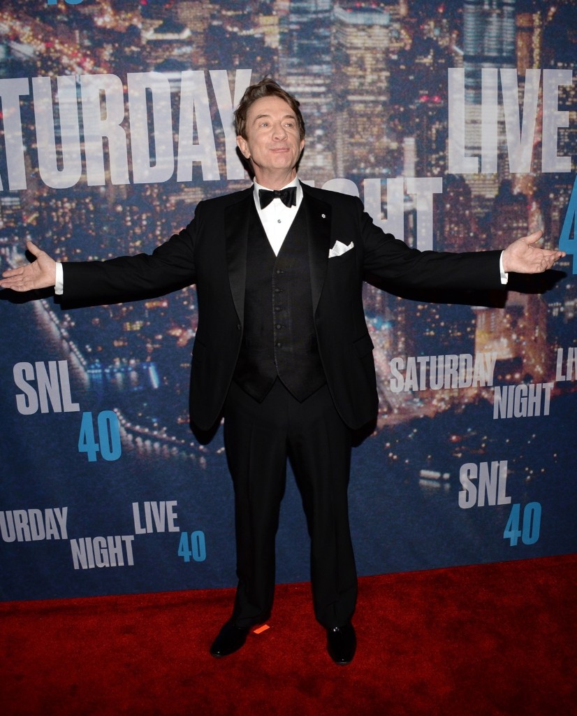 Martin Short arrives at the Saturday Night Live 40th Anniversary Special, Sunday, in New York. Evan Agostini/Invision/AP