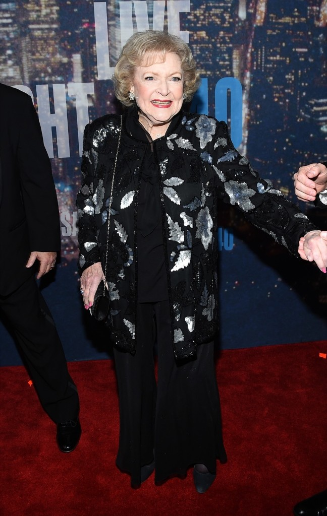 Betty White attends the SNL 40th Anniversary Special, Sunday, in New York. Larry Busacca/Getty Images