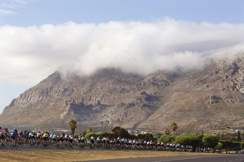 The Cape Town Cycle Tour in South Africa. Around 35 000 people take part in the annual ride. AP Photo/Schalk van Zuydam