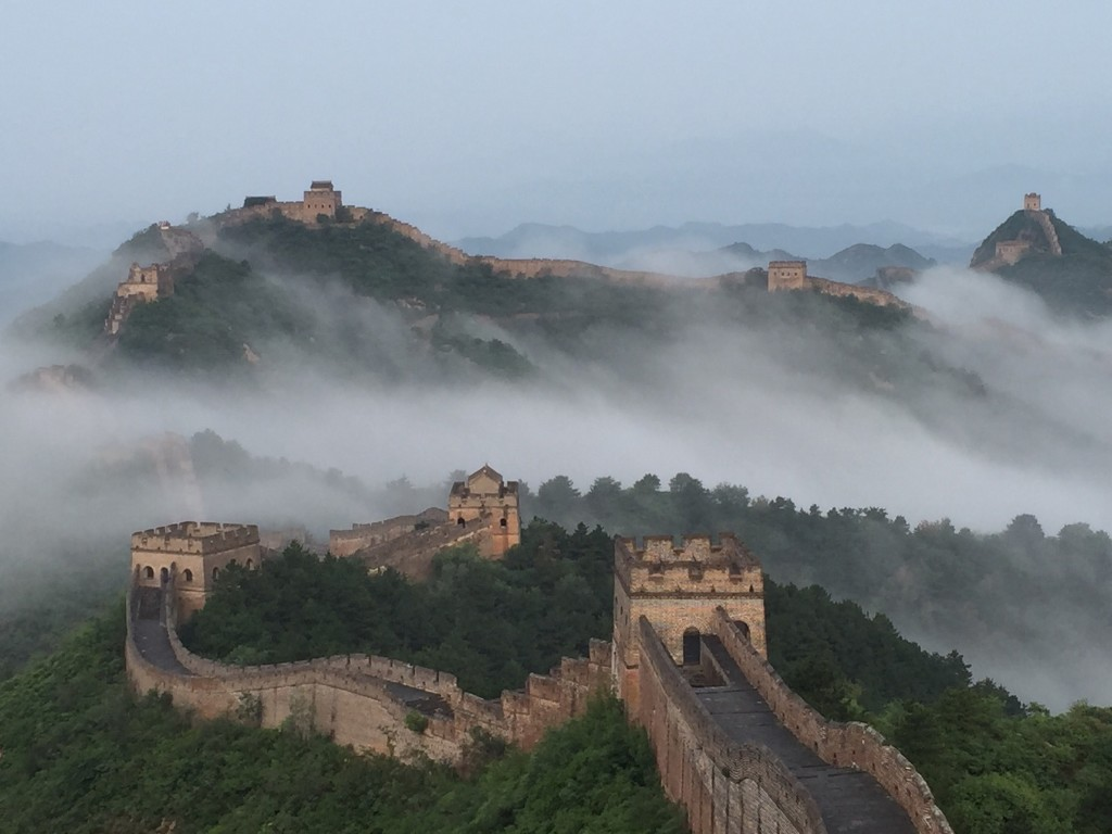The Jinshanling section of the Great Wall in Chengde, Hebei Province of China. ChinaFotoPress/Getty Images