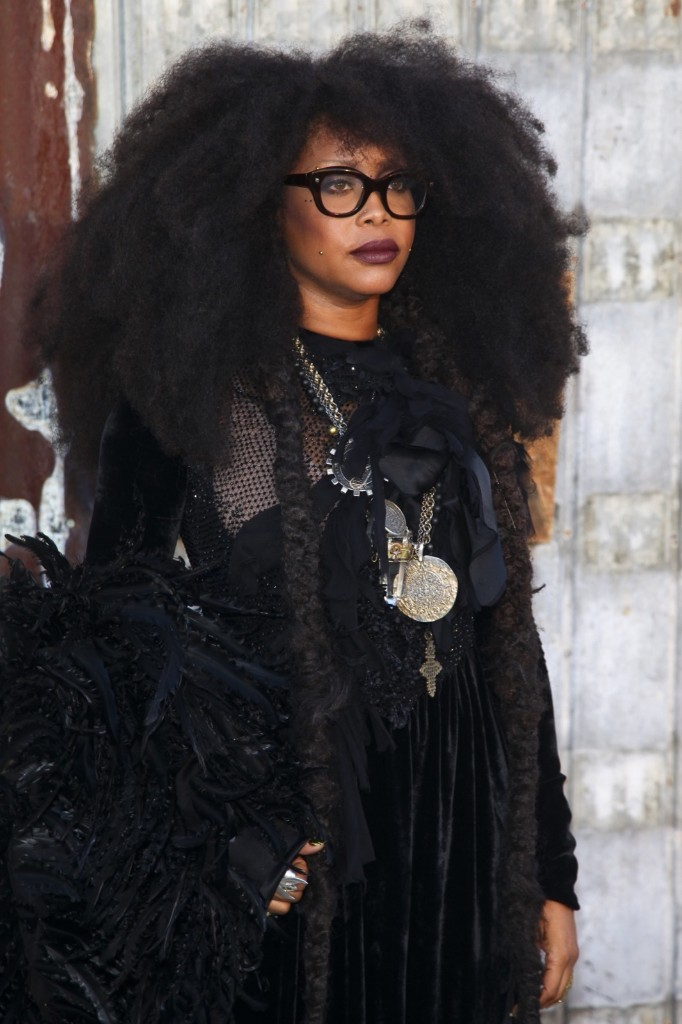 Erykah Badu attends the New York Fashion Week Spring/Summer 2016 Givenchy fashion show. Andy Kropa/Invision/AP