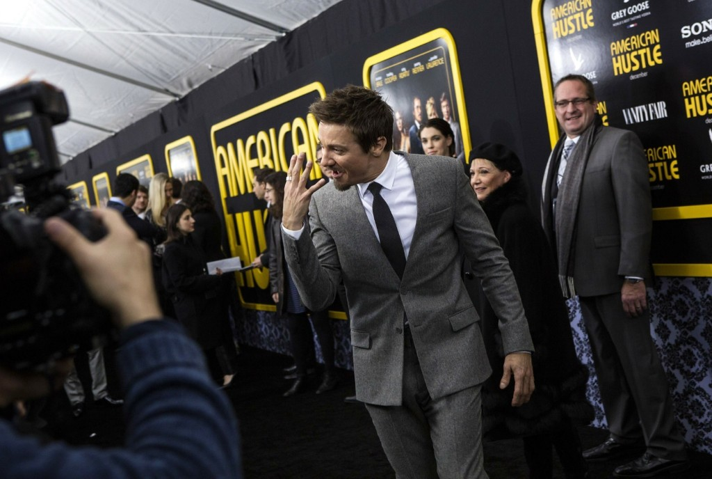 """Jeremy Renner at the """"American Hustle'"""" premiere in New York. REUTERS/Eric Thayer"""